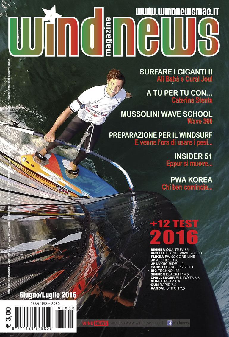 Iachino, Matteo si guadagna la cover wind news giugno luglio 2016