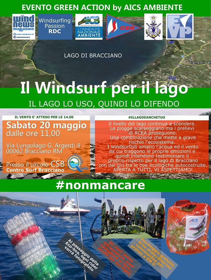 Windsurf lago bracciano 2017