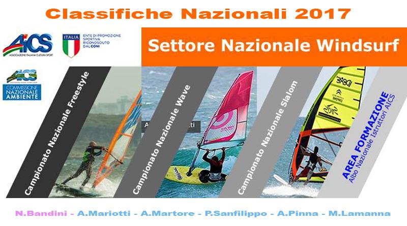 AICS Windsurf 2017 Classifiche Nazionali cover