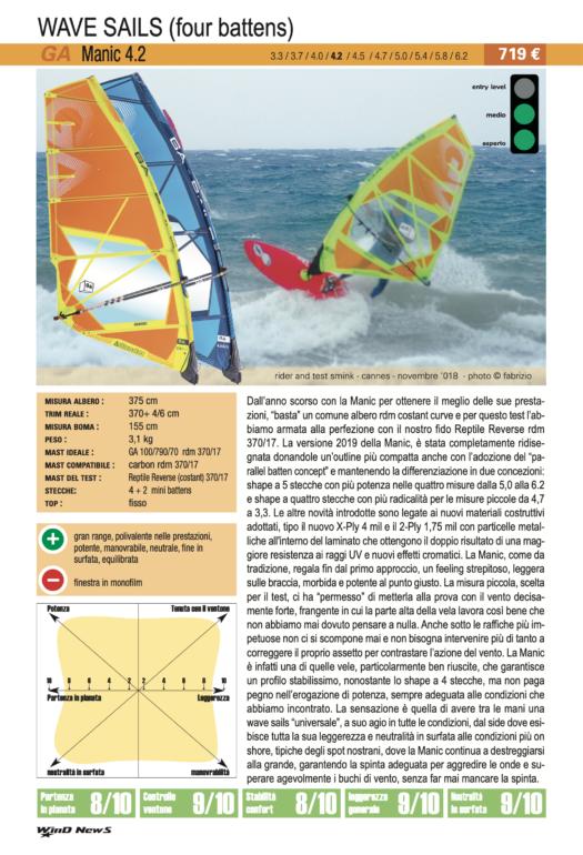 GA Sails Manic 4.2 2019