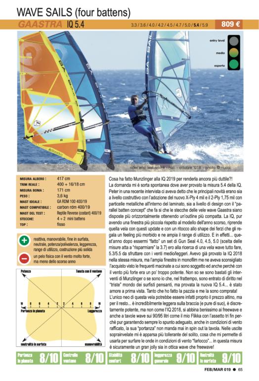 GA Sails IQ 5.4 2019