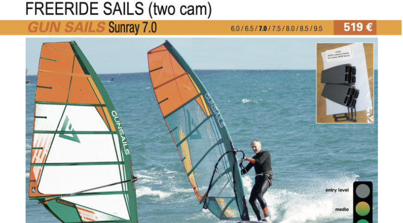 test GUN Sails Sunray 7.0 2019 cover