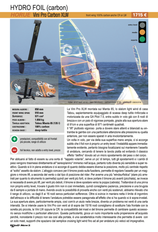 Test Horue Vini Pro Carbon XLW 2019