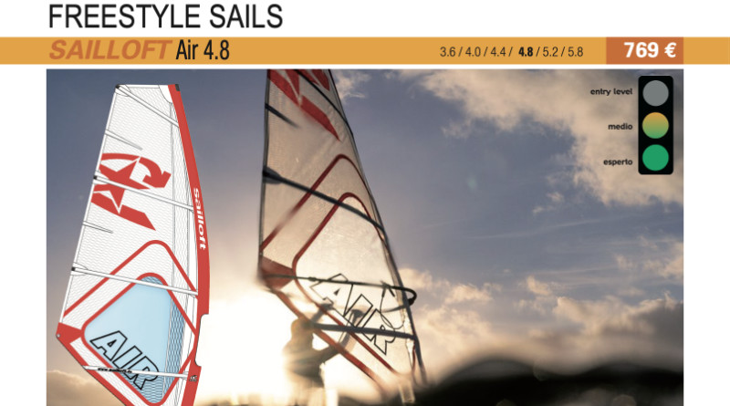 test SAILLOFT Air 4.8 2019 vele